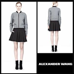T by Alexander Wang Neoprene inverted pleats skirt
